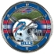 Carolina Panthers Round Chrome Wall Clock
