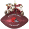 Cleveland Browns Peggy Abrams Glass Christmas Tree Ornament