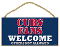 "Chicago Cubs 5""x10"" Welcome Wood Sign"