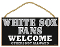 "Chicago White Sox 5""x10"" Welcome Wood Sign"