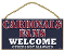 "St. Louis Cardinals 5""x10"" Welcome Wood Sign"