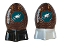 Philadelphia Eagles NFL Salt and Pepper Shakers Ceramic