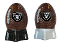 Oakland Raiders NFL Salt and Pepper Shakers Ceramic