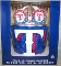 Texas Rangers Metal Ice Bucket-4 16 oz Glasses-&-12 Coasters