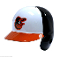 Baltimore Orioles Full Size Batting Helmet Rawlings - left flap