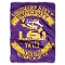 "LSU Tigers 60""x80"" Plush Raschel Throw Blanket"