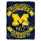 "Michigan Wolverines 60""x80"" Royal Plush Raschel Throw Blanket"