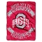"Ohio State Buckeyes 60""x80"" Plush Fleece Throw Blanket"