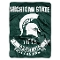 "Michigan State Spartans 60""x80"" Plush Raschel Throw Blanket"