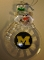 "Michigan Wolverines 3"" Traditional Snowman Ornament"