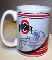 Ohio State Buckeyes NCAA 15 oz. Mug Coffee Cup - split style
