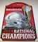 "Ohio State Buckeyes 11""x17"" Wood Sign National Champs"