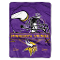 "Minnesota Vikings 60""x80"" Plush Raschel Throw Blanket"
