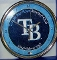 Tampa Bay Rays Round Chrome Wall Clock