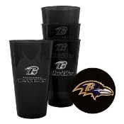 Baltimore Ravens 4 Pack - 16 oz Plastic Glass Set