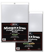 "8 7/8"" ResealableThick Magazine Bags BCW Brand Pack (100)"