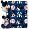 "New York Yankees 40""x50"" Disney Hugger Fleece Throw Blanket"