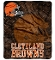 "Cleveland Browns 50""x60"" Plush Fleece Throw Blanket"