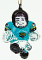 Jacksonville Jaguars Crystal Halfback Christmas Tree Ornament