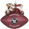 Oakland Raiders Peggy Abrams Glass Christmas Tree Ornament