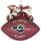 St. Louis Rams Peggy Abrams Glass Christmas Tree Ornament