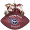 Tennessee Titans Peggy Abrams Glass Christmas Tree Ornament