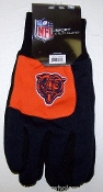 Chicago Bears Two Toned Utility Gloves 2012