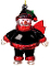 Atlanta Falcons Crystal Snowman Christmas Tree Ornament