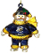 St. Louis Rams Crystal Snowman Christmas Tree Ornament