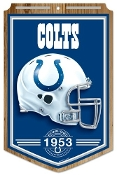 "Indianapolis Colts 11""x17"" Wood Sign Established 1953"