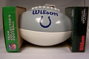 Indianapolis Colts Logo Wilson Football Full Size White Panel