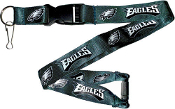Philadelphia Eagles NFL Breakaway Lanyard Key Chain Ring 36""