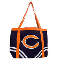 Chicago Bears Canvas Tailgate Tote Bag Purse