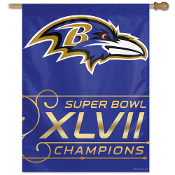 "Baltimore Ravens 2012 Super Bowl 47 Champions 27""x37"" Color Flag"
