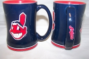 Cleveland Indians MLB 15 oz Sculpted Relief Mug Coffee Cup