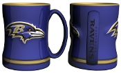 Baltimore Ravens NFL 15 oz Sculpted Relief Mug Coffee Cup