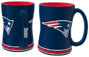 New England Patriots NFL 15 oz Sculpted Relief Mug Coffee Cup