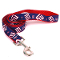 New York Giants Medium Dog Ribbon Lead Leash Nylon 6' Long