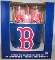 Boston Red Sox Metal Ice Bucket-4 16 oz Glasses-&-12 Coasters
