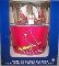 STL Cardinals Metal Ice Bucket-4 16 oz Glasses-&-12 Coasters