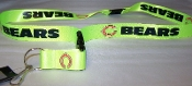 "Chicago Bears NFL Breakaway Lanyard Key Chain 36"" Long NEON!"