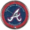 Atlanta Braves Chrome Wall Clock