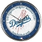 Los Angeles Dodgers Chrome Wall Clock