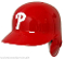 Philadelphia Phillie Full Size Batting Helmet Rawlings left flap