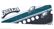 Philadelphia Eagles NFL Stretch Style Elastic Headband Hairband