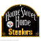 Pittsburgh Steelers Wood Sign Arched Home Sweet Home
