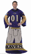 Baltimore Ravens Comfy Throw Blanket w/ Sleeves Fleece