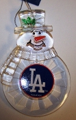 "MLB 3"" Traditional Snowman Christmas Tree Ornament  - PICK TEAM"