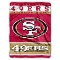 "San Francisco 49ers 60""x80"" Plush Throw Blanket"