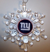 "NFL 3"" Traditional Snowflake Christmas Tree Ornament  PICK TEAM"